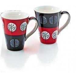 Mug Rouge et Noir Arbres Japonais