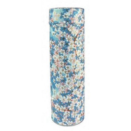 Caja Japonesa Floral Azul
