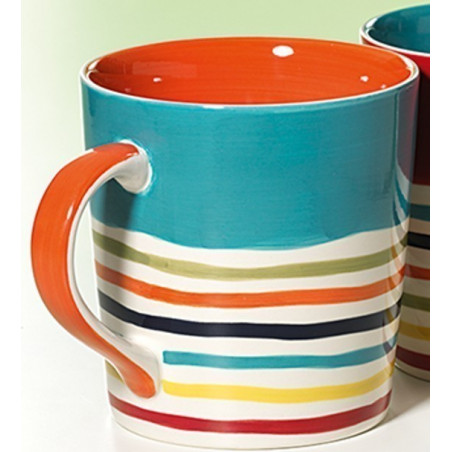 Mug Rayures Orange