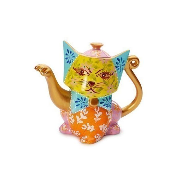 Théière Chat Multicolore 0.8l - Compagnie Anglaise des Thés