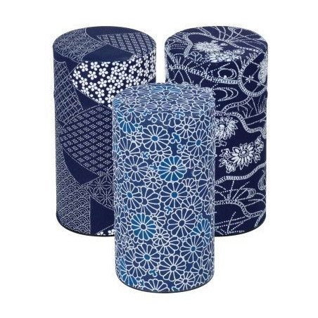 Boîte papier japonais bleu