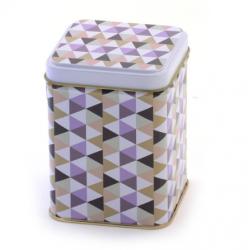 Caja para té de Pájaros Gris y Colores