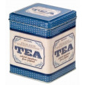 Boîte Tea bleue vintage