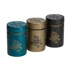 Boîte cylindrique Marron avec relief