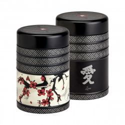 Caja para té Japonesa con Flores