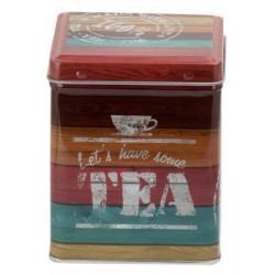 Caja para té rayas