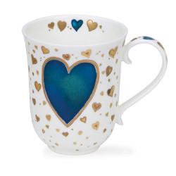 Mug Dunoon Coeur bleu - Compagnie Anglaise des Thés