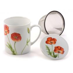 Tazas Flores con filtro