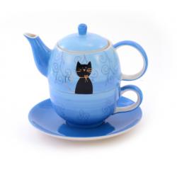 Théière Solitaire Chat Noir - Compagnie Anglaise des Thés